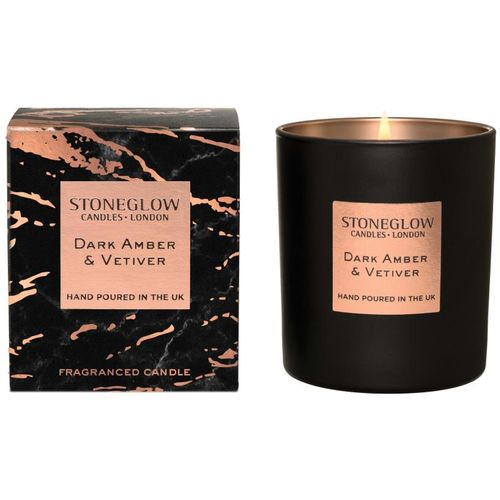 Stoneglow Candles Luna Tumbler Candle - Dark Amber & Vetiver