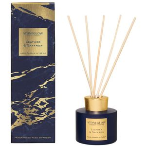 Stoneglow Candles Luna Reed Diffuser 120ml - Leather & Saffron