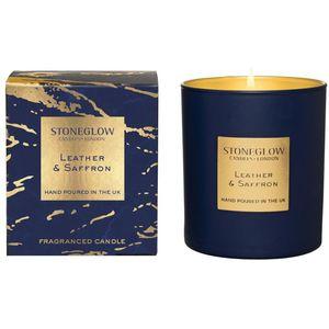 Stoneglow Candles Luna Tumbler Candle - Leather & Saffron