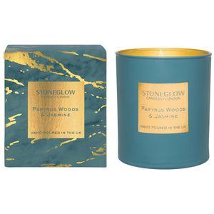 Stoneglow Candles Luna Tumbler Candle - Papyrus Woods & Jasmine