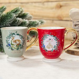Disney Bambi Enchanted Forest Christmas Collection Mugs Set - Bambi & Thumper