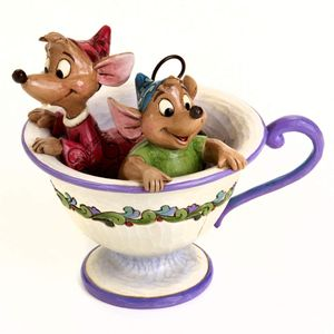 Disney Traditions Tea for Two Jaq & Gus Figurine