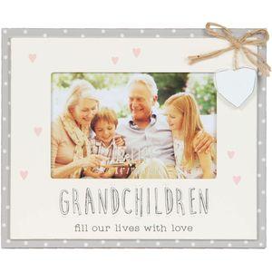 "Celebrations Love Life Bunting Photo Frame 6"" x 4"" - Grandchildren"