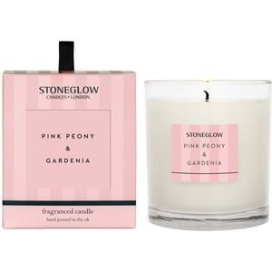 Stoneglow Candles Modern Classics Tumbler Candle - Pink Peony & Gardenia