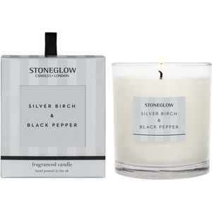 Stoneglow Candles Modern Classics Tumbler Candle - Silver Birch & Black Pepper