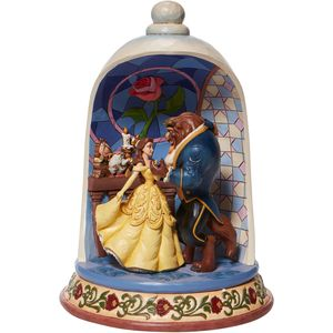 Disney Traditions Enchanted Love (Beauty and the Beast) Rose Dome Figurine