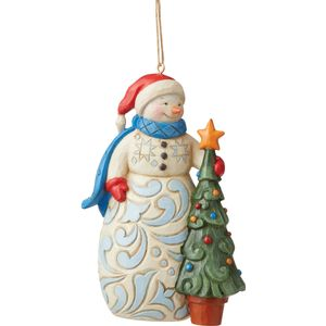 Heartwood Creek Hanging Ornament - Snowman with Tree