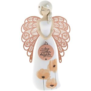 You Are An Angel Floral Figurine - Mother and Daughter