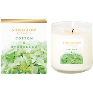 Stoneglow Candles Botanic Tumbler Candle - Cotton & Hydrangea