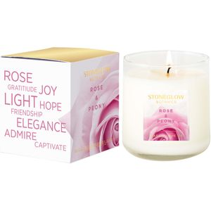 Stoneglow Candles Botanic Tumbler Candle - Rose & Peony