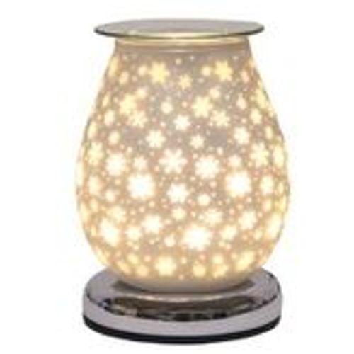 Aroma Touch Electric Wax Melt Burner - White Satin Snowflakes AR1644