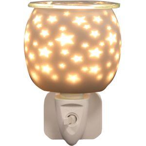 Aroma Electric Wax Melt Burner Plug In - White Satin Star
