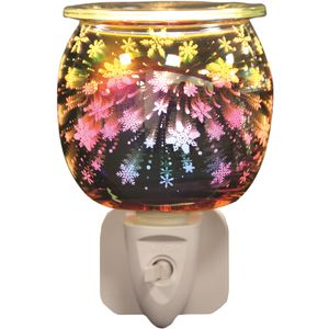 Aroma Electric Wax Melt Burner Plug In - 3D Snowflakes