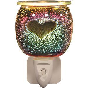 Aroma Electric Wax Melt Burner Plug In - 3D Burst Heart