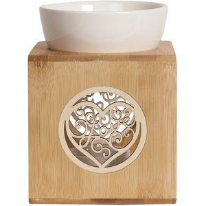 Aroma Wax Melt Burner - Zen Bamboo Love Heart