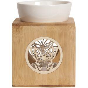 Aroma Wax Melt Burner - Zen Bamboo Butterfly