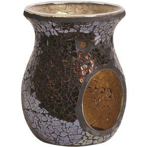 Aroma Wax Melt Burner - Amber Crackle