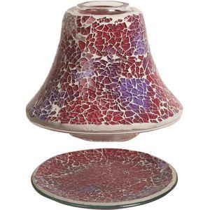 Aroma Jar Candle Shade & Plate Set - Crimson Crackle