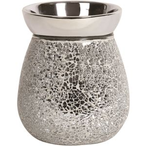 Aroma Electric Wax Melt Burner - Silver Crackle