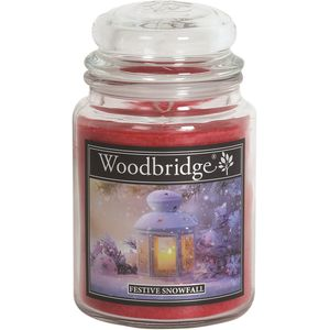 Woodbridge Large Scented Candle Jar - Festive Snowfall