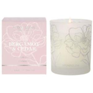 Stoneglow Candles Day Flower Tumbler Candle - Bergamot & Cedar