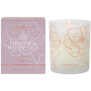 Stoneglow Candles Day Flower Tumbler Candle - Ginger & White Lily