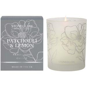 Stoneglow Candles Day Flower Tumbler Candle - Patchouli & Lemon