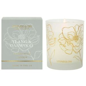 Stoneglow Candles Day Flower Tumbler Candle - Ylang & Oakwood