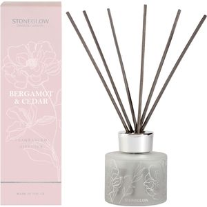 Stoneglow Candles Day Flower Reed Diffuser 120ml - Bergamot & Cedar