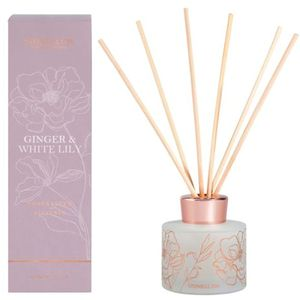 Stoneglow Candles Day Flower Reed Diffuser 120ml - Ginger & White Lily