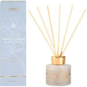 Stoneglow Candles Day Flower Reed Diffuser 120ml - White Linen & Cotton