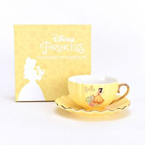 Disney Collectable Pastel Princess Cup & Saucer Set - Belle