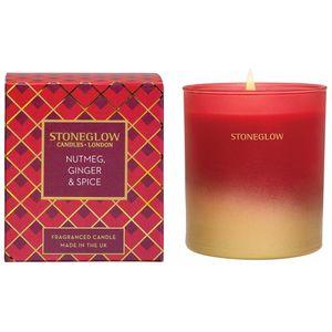 Stoneglow Candles Seasonal Tumbler Candle - Nutmeg, Ginger & Spice