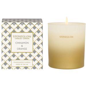 Stoneglow Candles Seasonal Tumbler Candle - Cinnamon & Orange