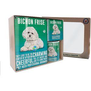 Metal Sign Mug & Coaster Boxed Gift Set - Bichon Frise Dog