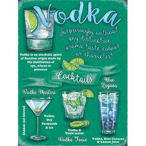 Metal Sign 30cm x 40cm - Vodka