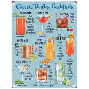 Metal Sign 30cm x 40cm - Classic Vodka Cocktails