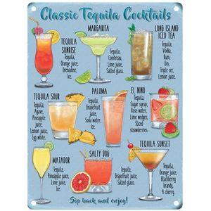 Metal Sign 30cm x 40cm - Classic Tequila Cocktails