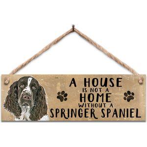 Wooden Sign - Springer Spaniel Dog