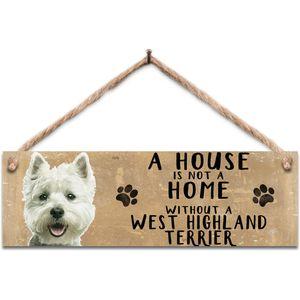 Wooden Sign - West Highland Terrier Dog
