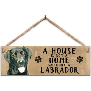 Wodden Sign - Black Labrador