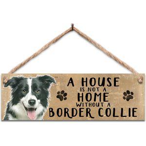 Wooden Sign - Border Collie Dog