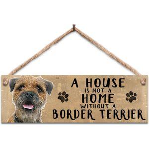 Wooden Sign - Border Terrier Dog
