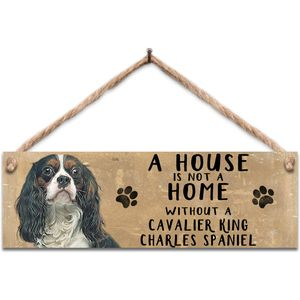 Wooden Sign - Cavalier King Charles Spaniel Dog
