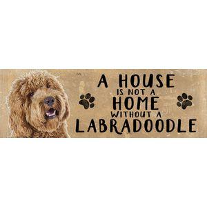 Wooden Sign - Labradoodle Dog