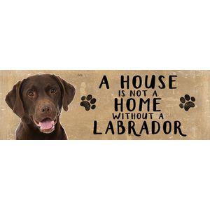 Wooden Sign - Chocoalate Labrador Dog