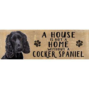 Wooden Sign - Black Cocker Spaniel Dog