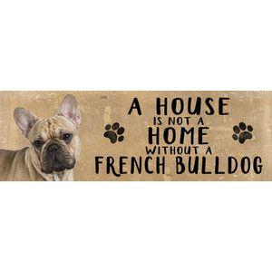 Wooden Sign - French Bulldog Dog
