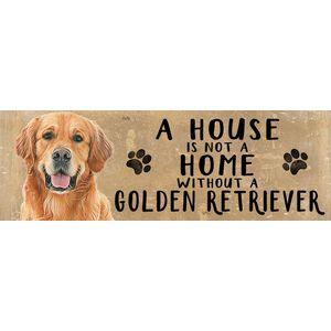 Wooden Sign - Golden Retriever Dog