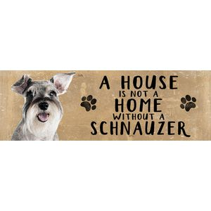 Wooden Sign - Schnauzer Dog